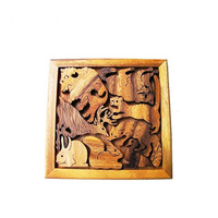 High quality solid wood 3D puzzle toys children animal jigsaw puzzle toy