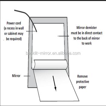 Smart Salon Led Bathroom Mirror With Tv With Anti Fog Film Buy