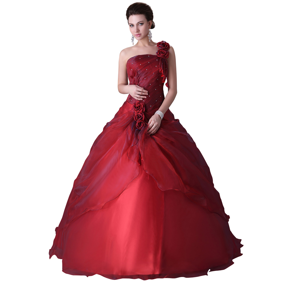 Buy 2015 Grace Karin One Shoulder Ball Gowns Dress for 15 years ...