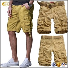 Ecoach Wholesale OEM Custom Sexy Men's Quick-dry Summer Twill Board Cargo Shorts Straight Leg Zipper fly Pants with Belt Loop