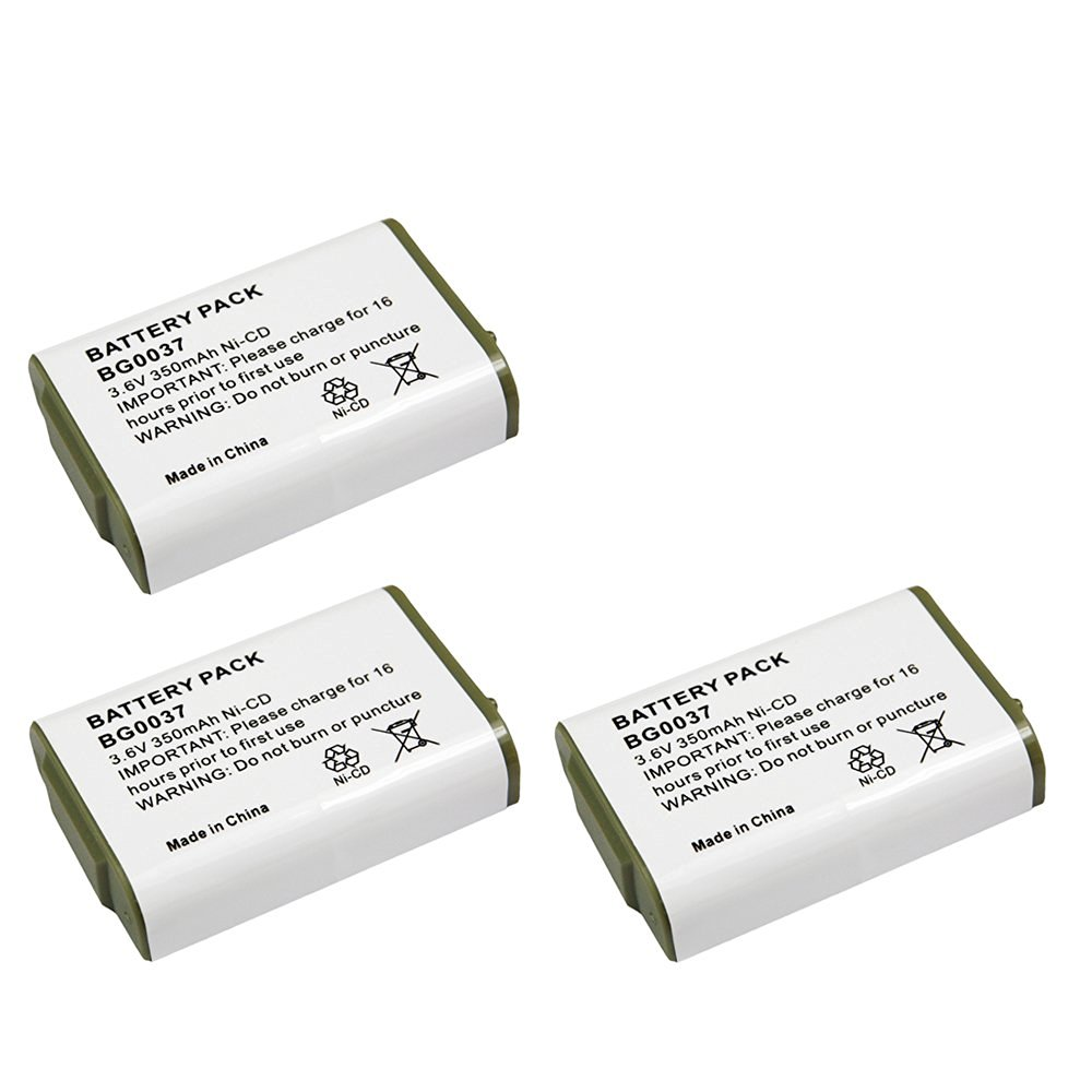 3 Pack Fenzer Replacement Cordless Phone Rechargeable Battery for Panasonic HHR-P103 HRRP103 HRR-P103A HRRP103A KX-TGA2352 KX-TG2352B KX-TG2352S KX-TG2352W KX-TG2382 KX-TG2382B
