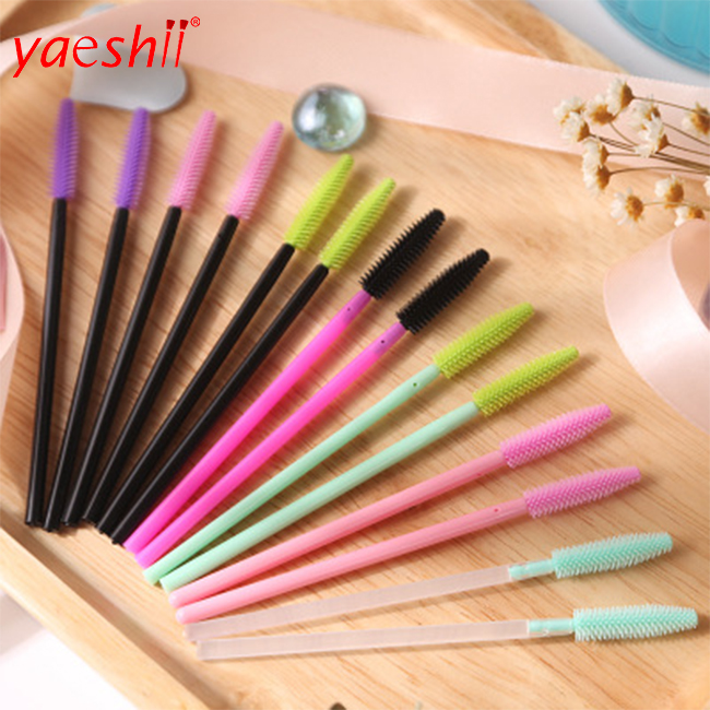 New Arrival Colorful Silicone Eyelash <strong>brush</strong> disposable Mascara <strong>Brush</strong>