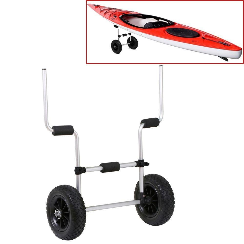Yaheetech Trolley Cart Canoe Boat Kayak Canoe Carrier Tote Kayak Canoe Carrier Dolly Carrier w/Wheels Silver