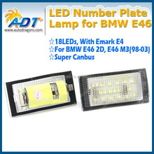 Canbus error free auto parts led license plate lamps for BMW E46 2D Coupe/E46 M3(98-03)