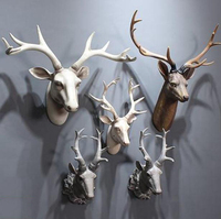 High quality resin various bust deer head statues for wall decoration