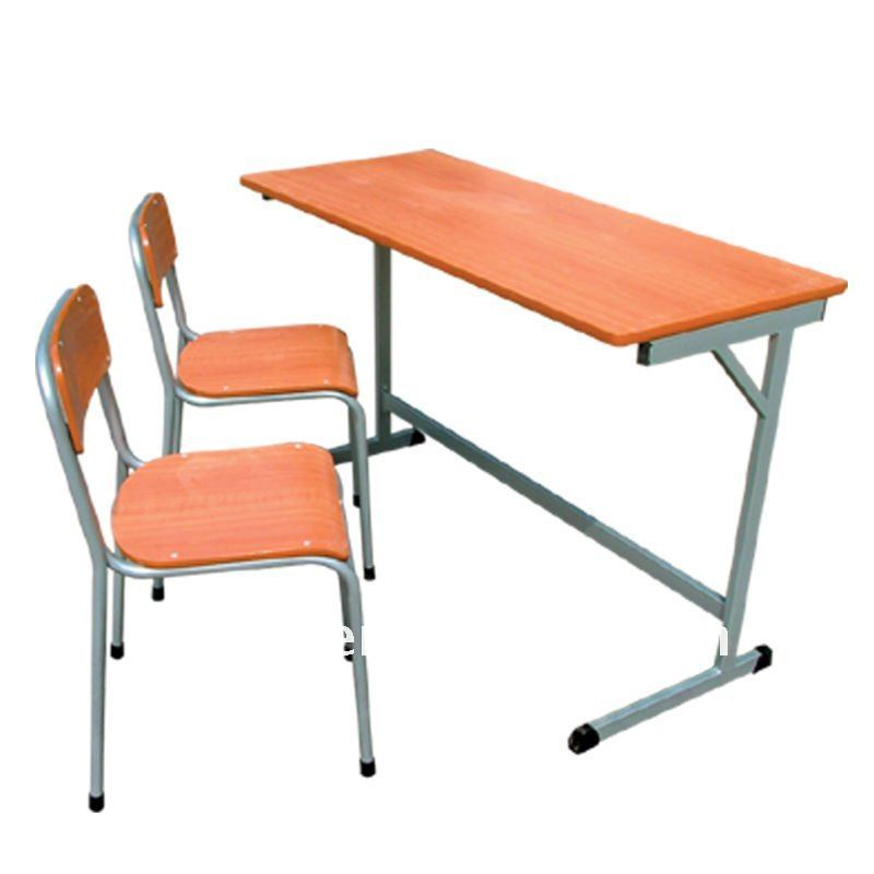 Delighful School Desk And Chair In Classroom Two Seater