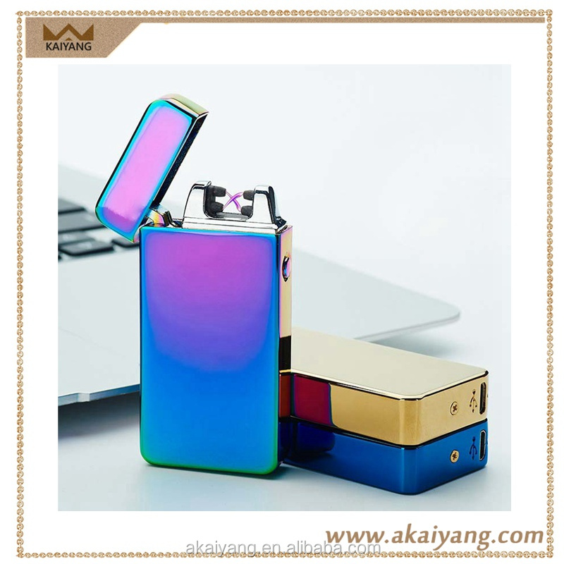 New flameless rechargeable x beam electronic lighter customized design double arc electric usb lighters