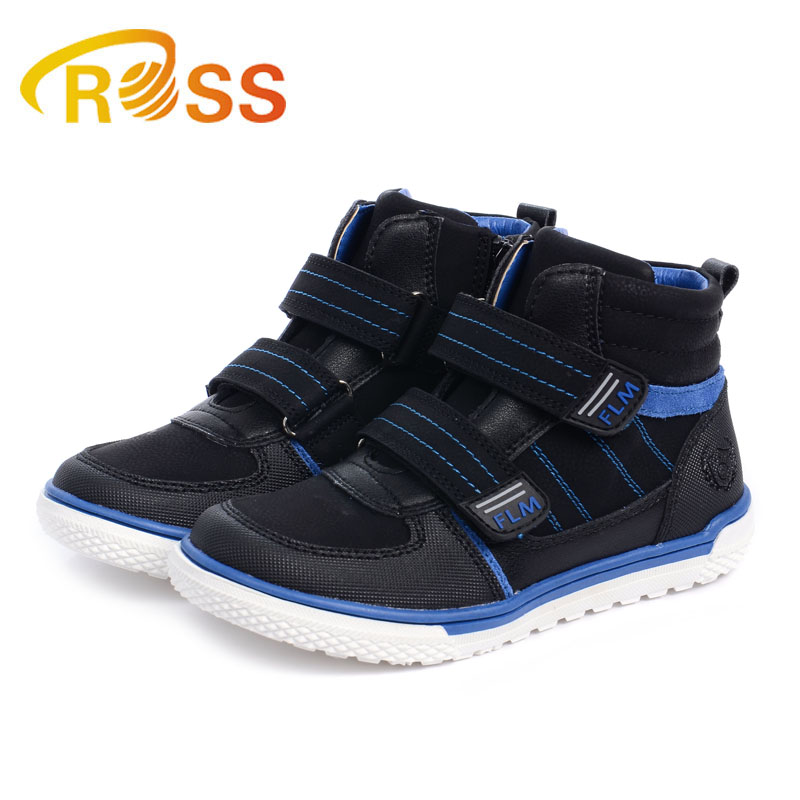 Boys Skate Shoes Hook Toop Ankle Boots Kids Fashion Sports Shoes Boys Sneakers Orthopedic Shoes