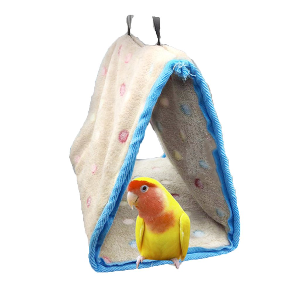 Winter Warm Bird Nest House Perch for Parrot Macaw African Grey Amazon Eclectus Parakeet Cockatiel Cockatoo Conure Lovebird Finch Cage Bed Toy