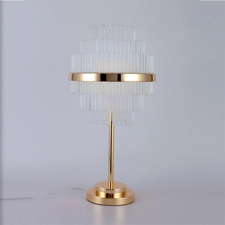 Modern Golden Color Crystal Chandelier Table Lamp For Hotel Villa Lamp Buy Table Lamp Crystal Table Lamp Chandelier Table Lamp Product On