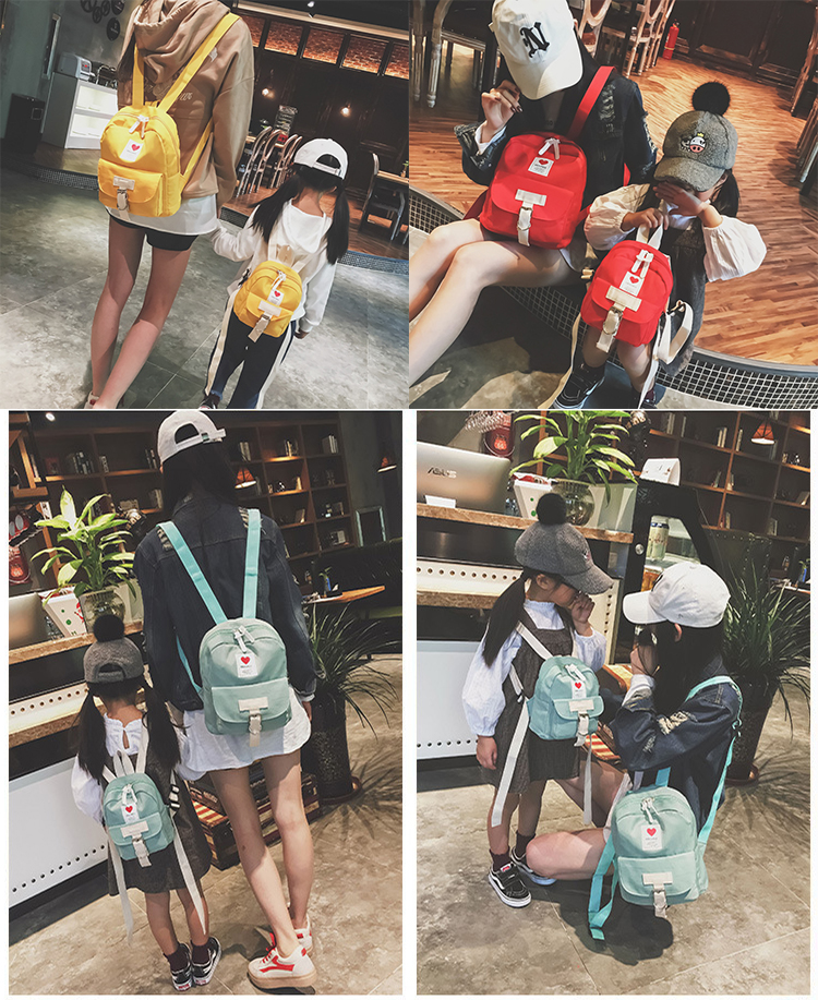 Fashion Printed Preppy style Waterproof School College Parent-child backpack child kids Boys Girls School bag
