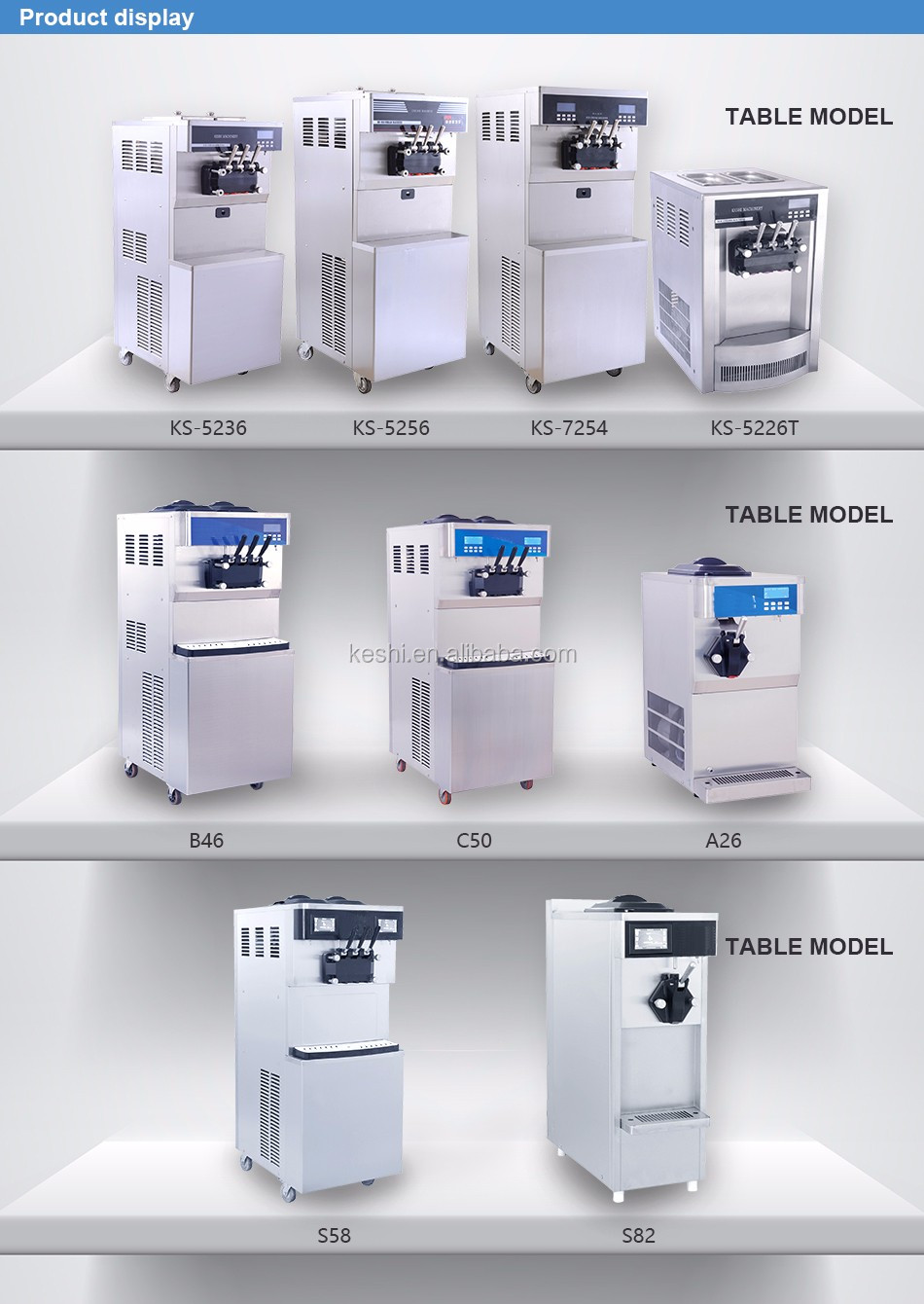 economic colorful series ice cream supply 3 flavours stainless steel ice cream making machine
