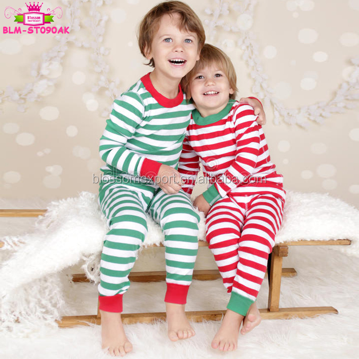 Wholesale Christmas Pajamas Sets Striped Pjs Blanks Sleepwear XMAS Gift for The Whole Family Matching