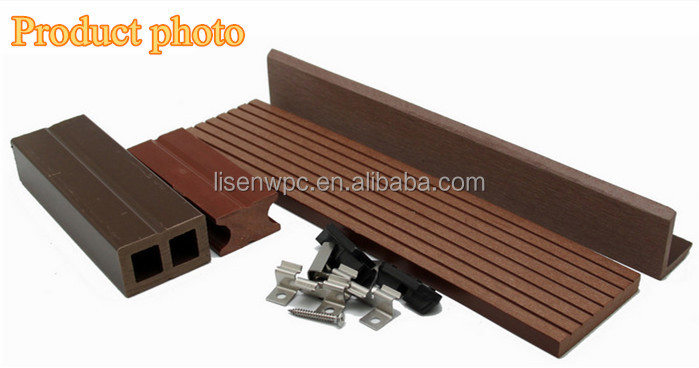 Eco friendly outdoor wood plastic composite cladding wpc for 3m composite decking boards