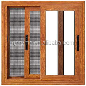 Security Aluminum Window Grill Design with Stainless Steel Screen Building Materials