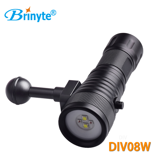Brinyte DIV08W 1050 lumens 2 colors led chip with ball joint video dive light