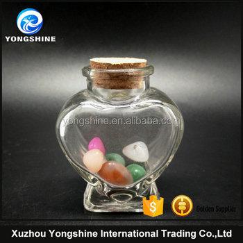 Mini 30ml Heart Shape Wishing Glass Bottle With Cork Buy Heart