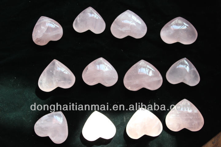 Wholesale Beautiful Natural Rose Quartz Crystal Heart For Gift