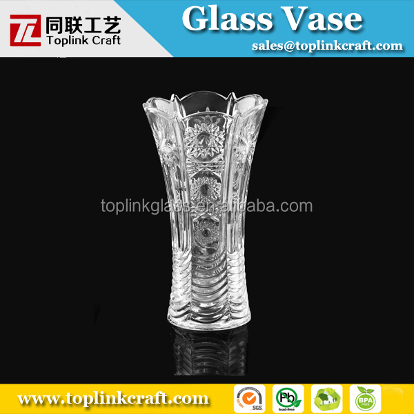 wholesale clear glass bud vases with 20 cm tall