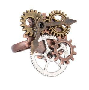 CZ004 Huilin Jewelry Steampunk Gears Ring Mechanical Watch Gear Rings Cosplay Ring