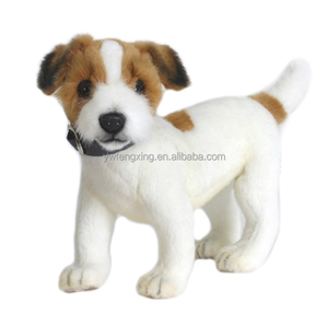 JACK RUSSELL TERRIER DOG REALISTIC CUTE SOFT ANIMAL PLUSH TOY 31cm