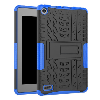 Shockproof Rugged Tpu Pc Kickstand Tablet Cover For Amazon Kindle Fire hd 7 2017 Case