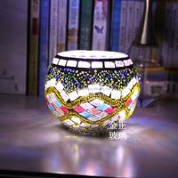 Mosaic Glass Tealight Holder European Party Wedding New Year Centerpiece