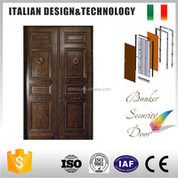 made in china professional solid wood exterior security steel door price