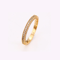 12586 New type top sale 18k gold color mood ring