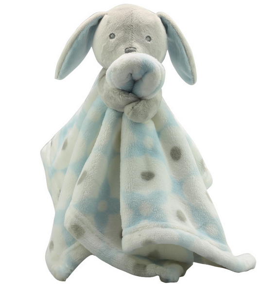 Square Cuddle Animal Head Baby Receiving Blanket Plush