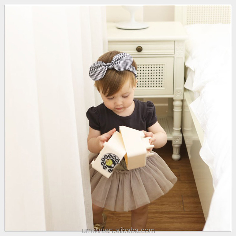 Baby Girl Black White Classical <strong>Headband</strong> 3D Cute Ears Infant Headwear HB059