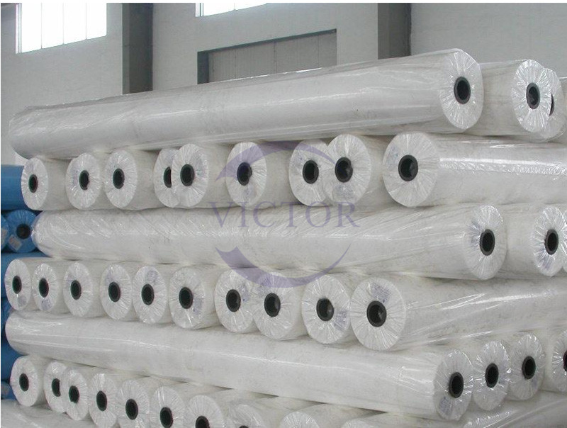high quality medical pp thermal spunbonded nonwoven blue white color