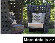 Wholesale italian style modern cast aluminum rattan wicker high back single sofa chair
