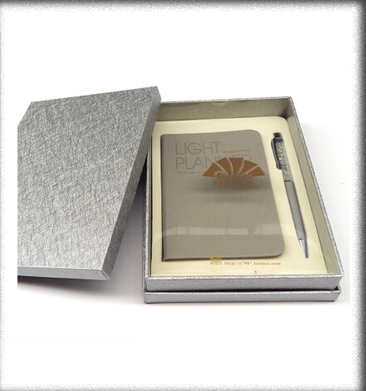 Thick luxury gift sets crystal ball pen and notebooks packing with boxes