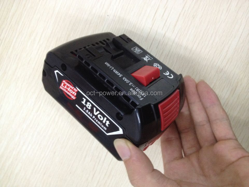 18V Bosch battery 18V 3Ah Replacement Battery for cordless drill