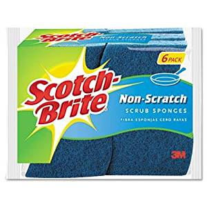 """Scotch-Brite - 4 Pack - Non-Scratch Multi-Purpose Scrub Sponge 4 2/5 X 2 3/5 Blue 6/Pack """"Product Category: Breakroom And Janitorial/Cleaning Tools & Supplies"""""""