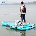 Light inflatable fishing standard up paddle board and kayak with 34 bls engine