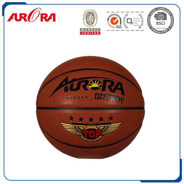 2016 New design custom logo PU Material Laminated Basketball