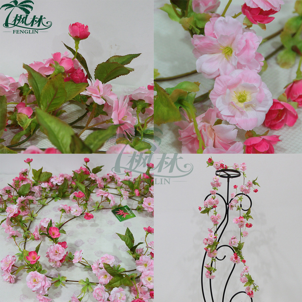170cm silk cherry blossom flower garland wholesale artificial 170cm silk cherry blossom flower garland wholesale artificial flower vine on promotion dhlflorist Image collections