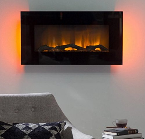 Get Quotations  C2 B7 Electric Fireplace Wall Mountwall Heater 30 In Led Wall Fireplace Color Black