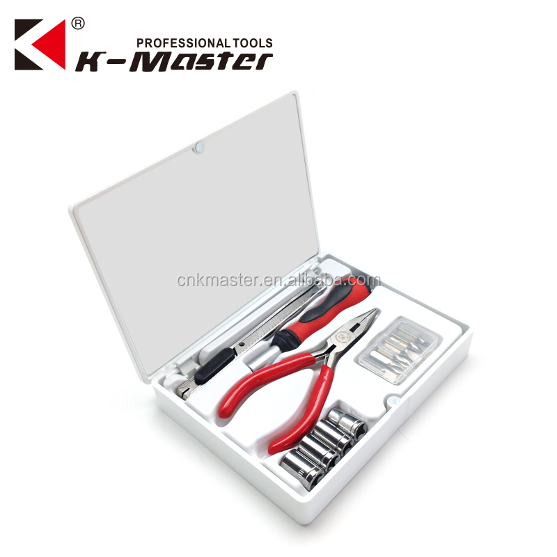 K-Master 17 pcs small tool box Women Tool Kit Lady Hand pink tool <strong>set</strong>