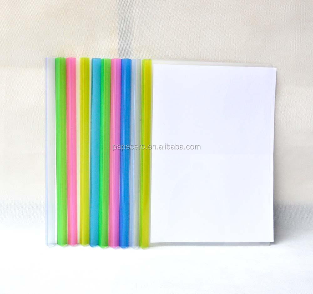 Colorful A4 Cassified Plastic Slide Binder Folder Slide