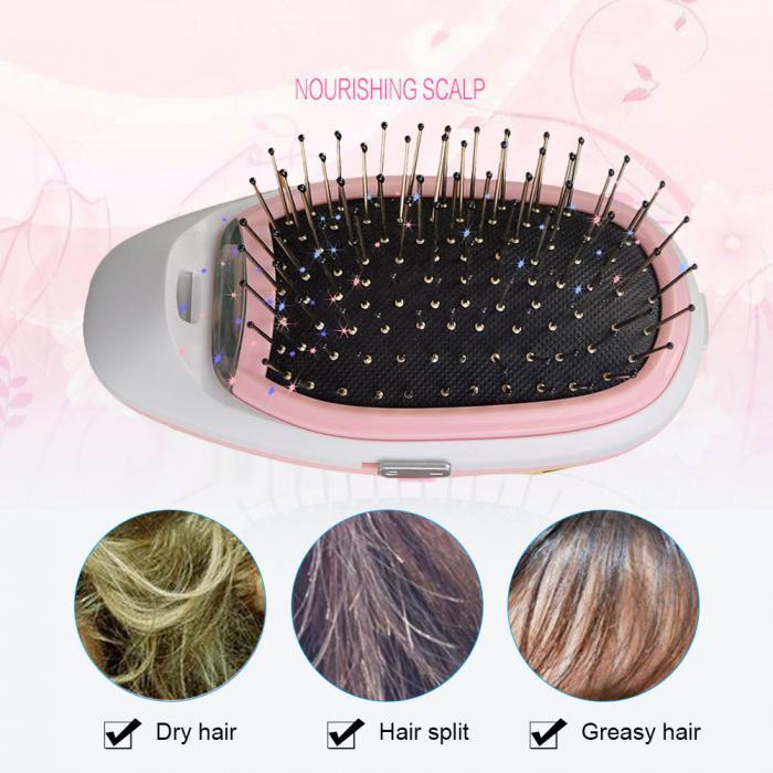 Cepillo de cabello eléctrico portátil negativo iones cuero cabelludo masaje  cuidado peine modelado peinado Hairbrush hj2018 151c33e939be