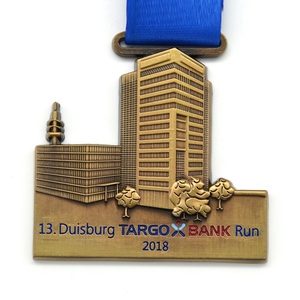 Longzhiyu12years manufacturer custom Folk Metal Crafts Custom Duisburg Running Game German Medal