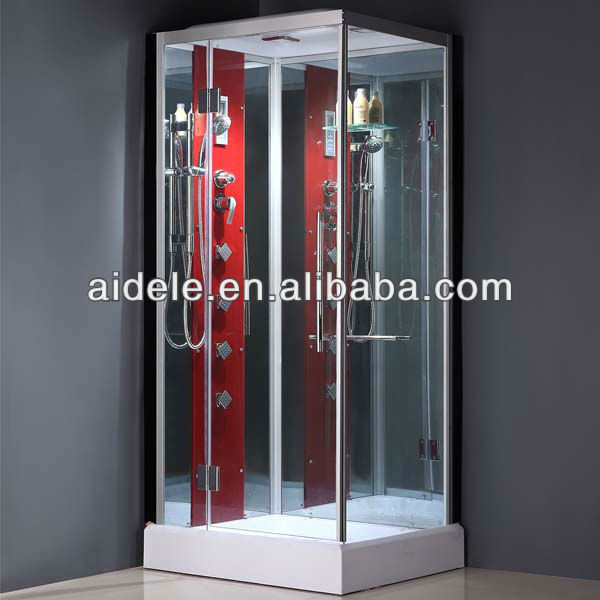 comfortable exquisite beautiful shower cabin with hydromassage