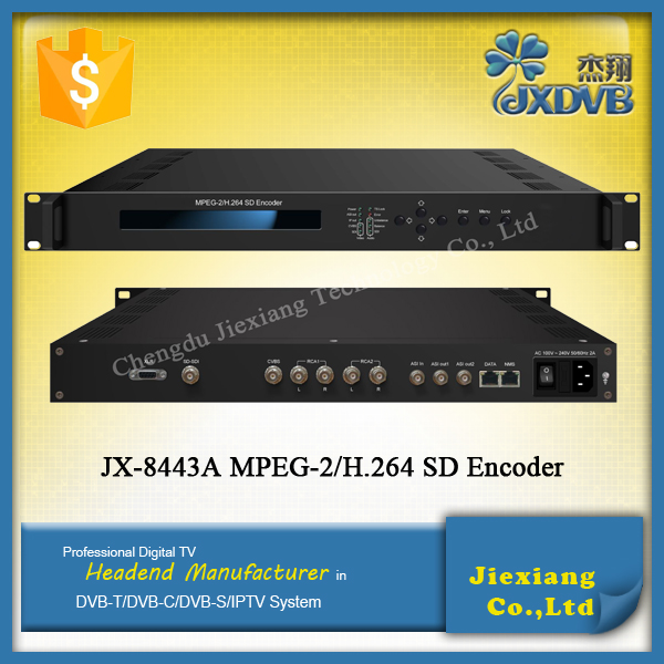 Popular MPEG2 H.264 IPTV Encoder with Audio Video Encoding and Multiplexing
