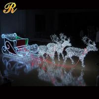 Customized Christmas ornaments LED reindeer sleigh