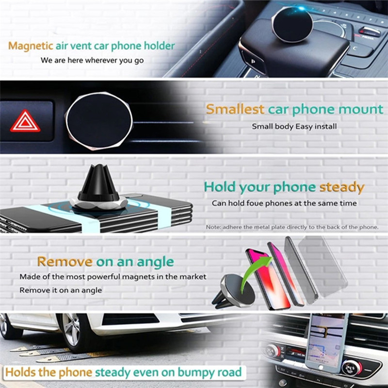 Hot Sell Rotating Magnet Car Air Vent Phone Holder