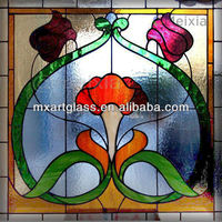 MX13072501 china wholesale tiffany style custom stained glass window for home decoration 1