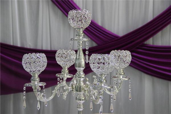 Crystal ball candelabra with flower bowls wedding centerpieces for crystal ball candelabra with flower bowls wedding centerpieces for bouquet decoration junglespirit Choice Image